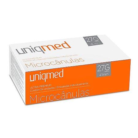 Microcânulas 27G X 40mm Ultra-Premium cx c/24un Uniqmed