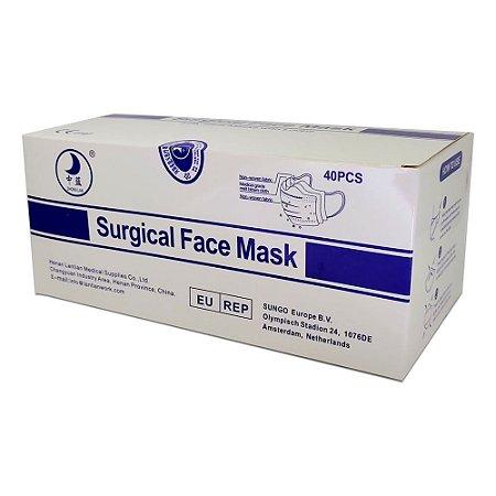 Máscara Cirúrgica Tripla c/Elástico Cx c/40un. Estéril Multilaser