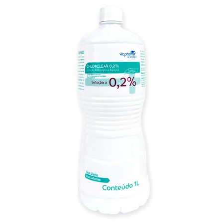 Clorexidina 0,2% 1L Solução Antisséptica Aquosa Chlorclear Vic Pharma