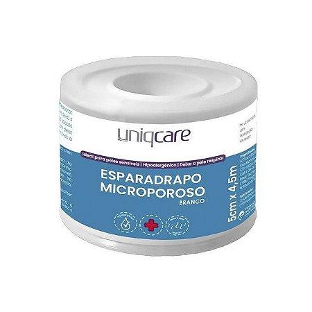Esparadrapo Microporoso Branco 5cm x 4,5m Uniqcare