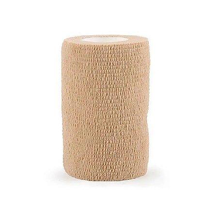 Bandagem Elástica Autoaderente 10cm x 4,5m Bege Bioland
