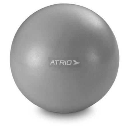 Overball Mini Bola Fitness 20cm para Exercícios Cinza Atrio