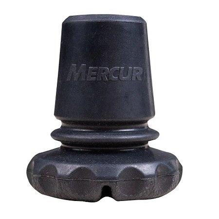 """Ponteira Articulada p/Muleta Canadense Fixa 3/4"""" Preta Mercur"""