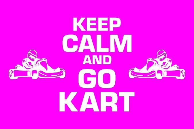 Tapete Capacho Kart Keep Calm rosa