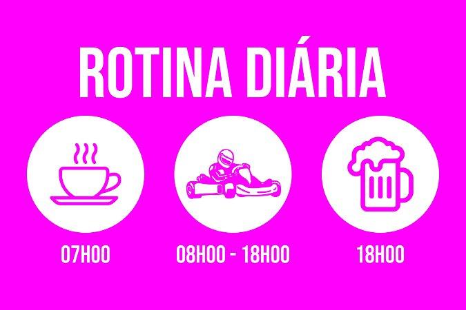 Tapete Capacho Kart Rotina rosa
