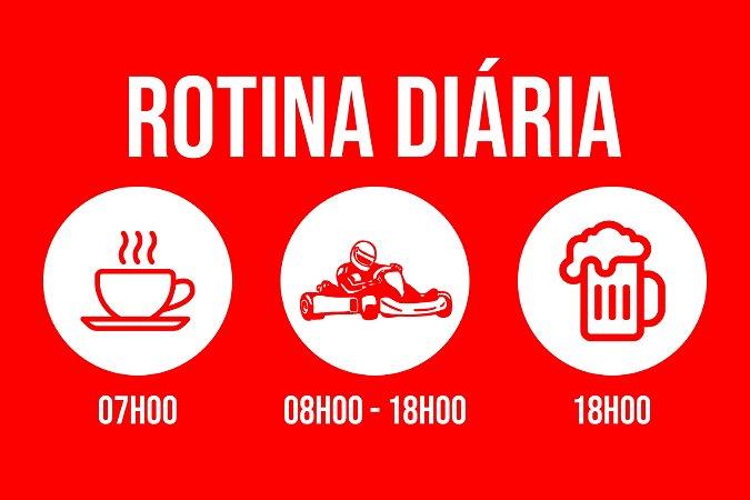 Tapete Capacho Kart Rotina vermelho