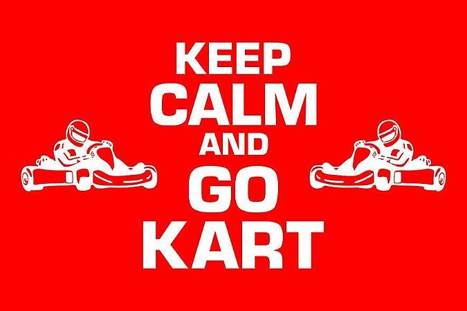 Tapete Capacho Kart Keep Calm vermelho