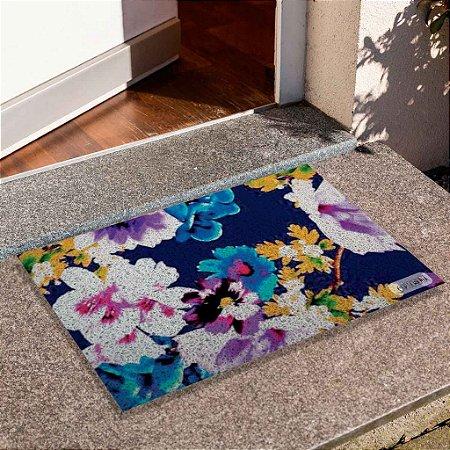 Capacho Floral Azul Escuro