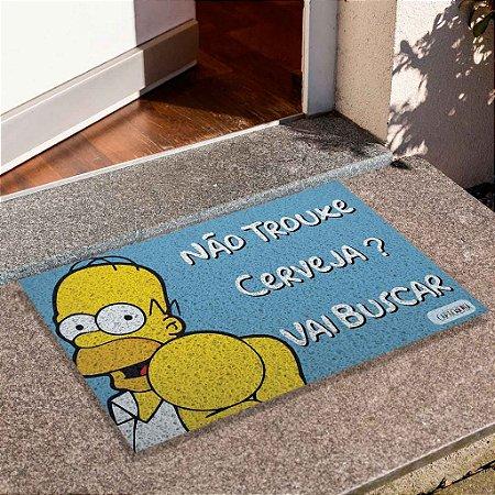 Capacho Homer Trouxe Cerveja Azul