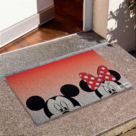 Capacho Mickey E Minnie Rostos