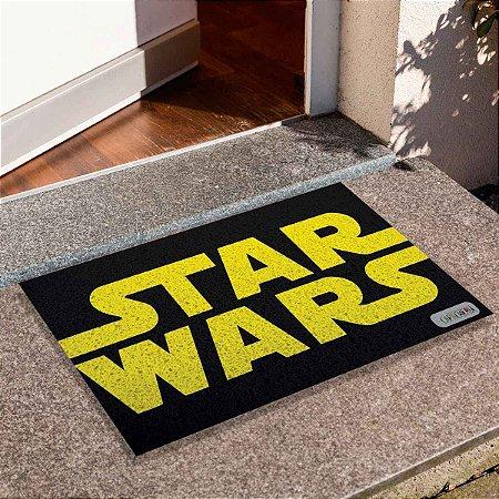Capacho Star Wars Preto Com Amarelo