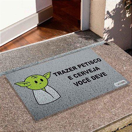 Capacho Yoda Trazer Petisco Cinza