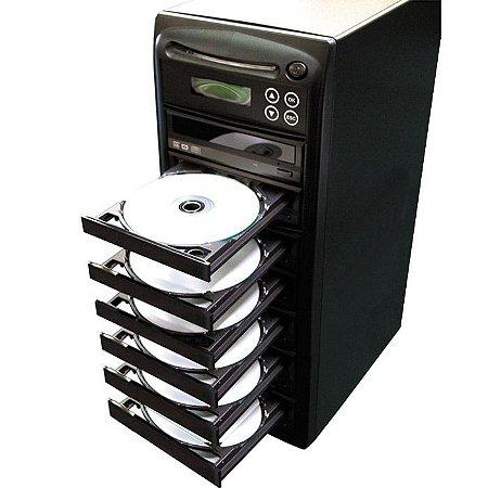 Duplicadora de DVD e Cd com 7 Gravadores Asus