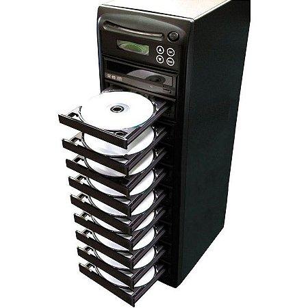 Duplicadora de DVD e Cd com 10 Gravadores Asus- Grava Midias Dual Layer até 8.5GB