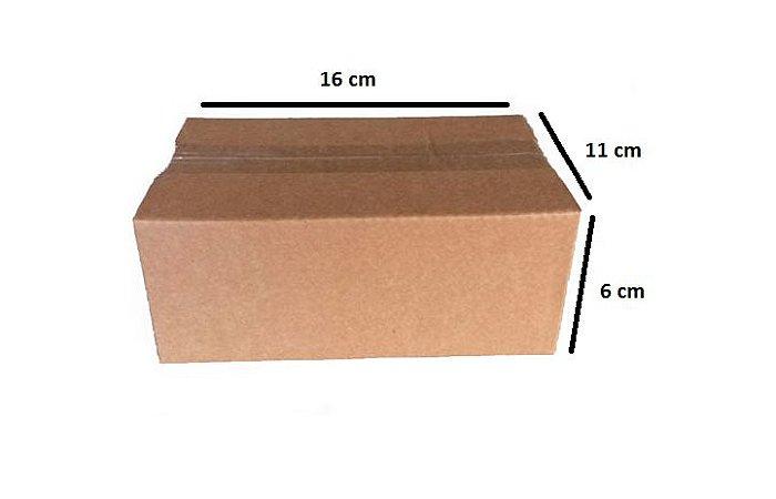 100 caixas de papelão número 0 - 16 x 11 x 6 cm