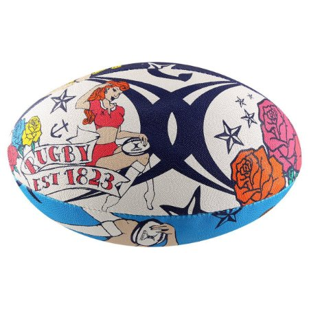 Bola Gilbert Beach Rugby Tattoo