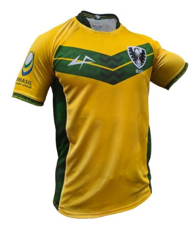 Camisa Brasil Rugby League - Home masculino