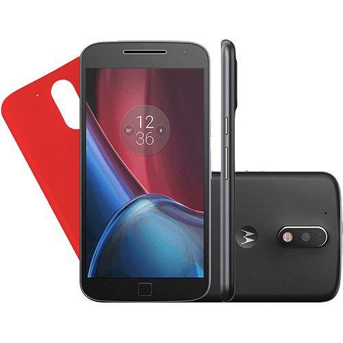 Smartphone Moto G 4 Plus Dual Chip Android 6.0 Tela 5.5'' 32GB Câmera 16MP - Preto