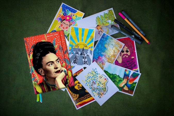 Agenda Frida Livro + Kit Postal