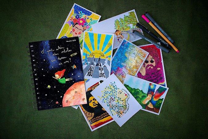 Agenda Estrela Espiral + Kit Postal