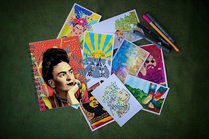 Agenda Frida Espiral + Kit Postal