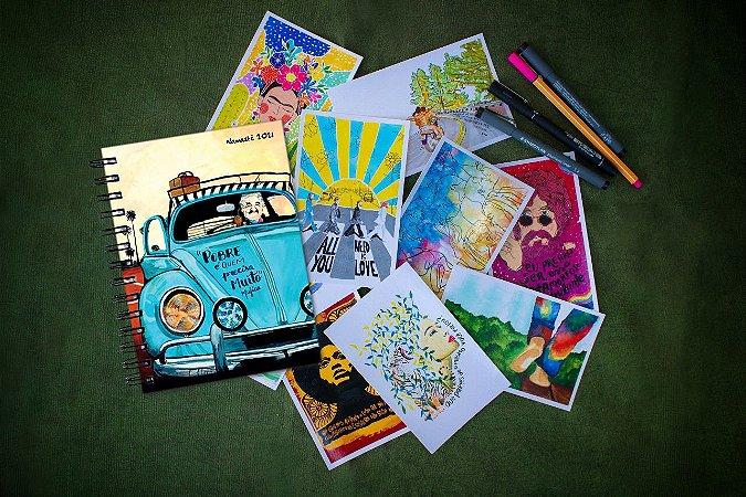 Agenda Mujica Espiral + Kit Postal