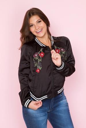 Jaqueta Retilinea Roses