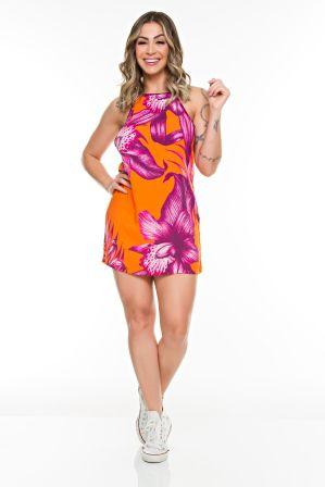 Vestido Trapezio Tropicaly