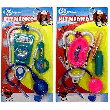 Kit Medico de Brinquedo - com Estetoscopio e acessorios - SQ3854