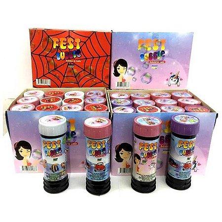 Bolha de Sabão Fest Bubbles - Kit com 24 potinhos