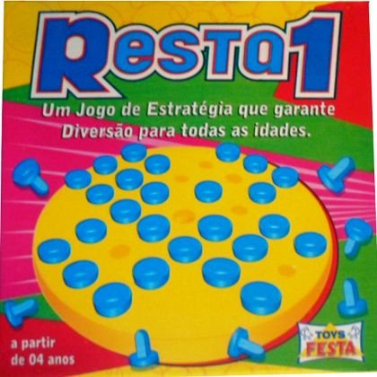 Resta 1 - Jogo Educativo - Ref.9021 - Toys Festas