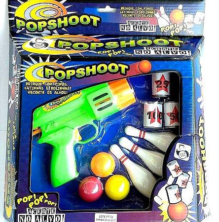 Arminha de brinquedo - Lancador Tiro-ao-Alvo Boliche - POPSHOOT- Pica-Pau - Ref.629