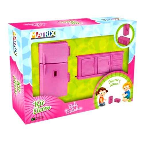 Kit Eletrodomésticos de Cozinha - Moveis de Brinquedo - Bela Belinha - Ref 990 - Varias Cores - Matrix Plaspolo