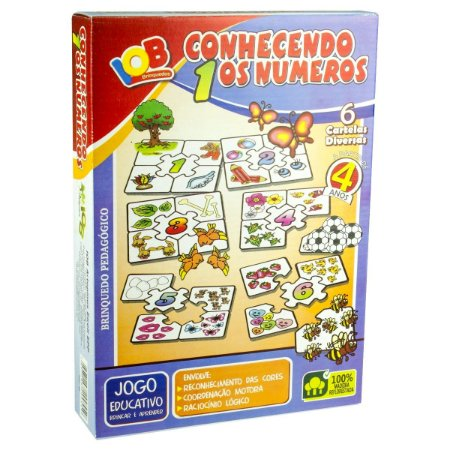 Brinquedo Educativo Jogo Pedagógico - Conhecendo os Numeros - Brinquedo Didatico de Madeira IOB Ref.163