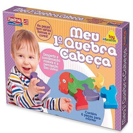 Meu primeiro Quebra-Cabeca - brinquedo para bebes - Plasbrink- 0266