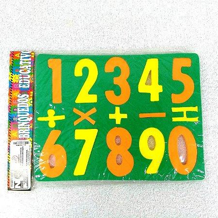 Jogo Educativo Pedagogico em EVA - Encaixe Numeros e Operacoes Matematicas - ref 437 MINGONE