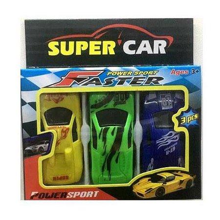 Carrinhos Miniaturas - kit com 3 carrinhos - BA18799