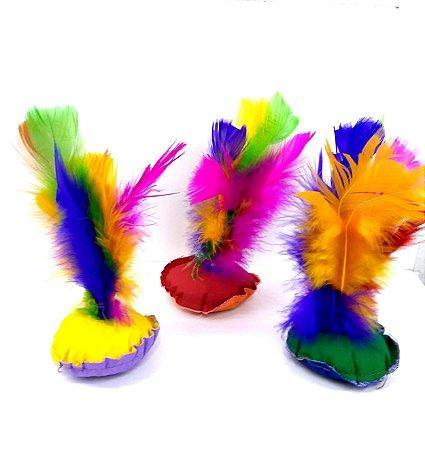 Peteca com penas coloridas - Ref. 3999