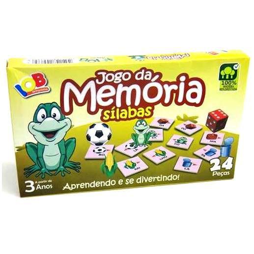 Brinquedo Educativo Jogo Pedagógico - Jogo da Memoria Silabas Ref.068 - IOB Madeira