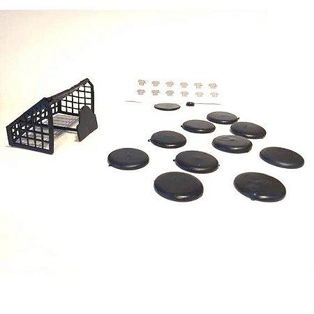 Futebol de Botao - 1 time - Jogo de Futebol de Botao - 366 - VARIOS TIMES- Jaragua Toys