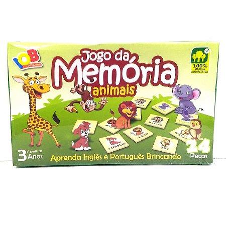 Brinquedo Educativo Jogo Pedagógico IOB Madeira - Jogo da Memoria ANIMAIS - Ref.05