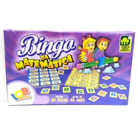 Brinquedo Educativo Jogo Pedagógico IOB Madeira - Bingo da Matematica - Ref.12