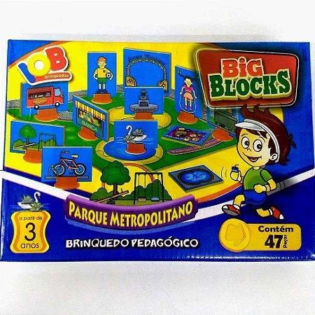 Brinquedo Educativo Jogo Pedagógico - Big Block Cidades PARQUE METROPOLITANO - IOB Madeira Artepinus ref.154