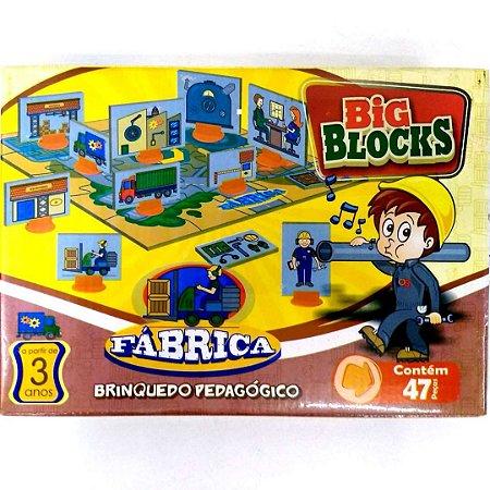 Brinquedo Educativo Jogo Pedagógico - Big Block FABRICA - IOB Madeira Artepinus ref.15