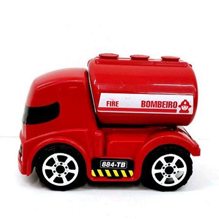 Caminhão de Bombeiro de Brinquedo - Play Kids - 15 cm - Ref.1403 - Altimar