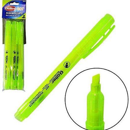 Marca Texto GOLLER HOT Fluorescente  - kit com 3 marcador de texto AMARELO 5889 db