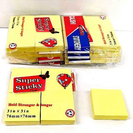 Kit com 6 Pacotinhos com POST IT para Anotacoes  - cada pacotinho tem 4 bloquinhos de postit - BJ7903