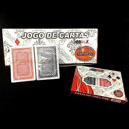 Jogo de Cartas - Jogo de Baralho Plastificado Duplo - KIT COM 6 BARALHOS DUPLOS - GUBLY0790
