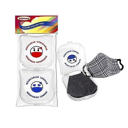 Porta Mascara de Protecao - Kit com 2 porta mascaras - Injetemp - Ref 0416