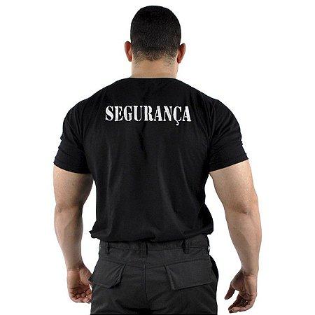 Camisa Segurança Letras brancas